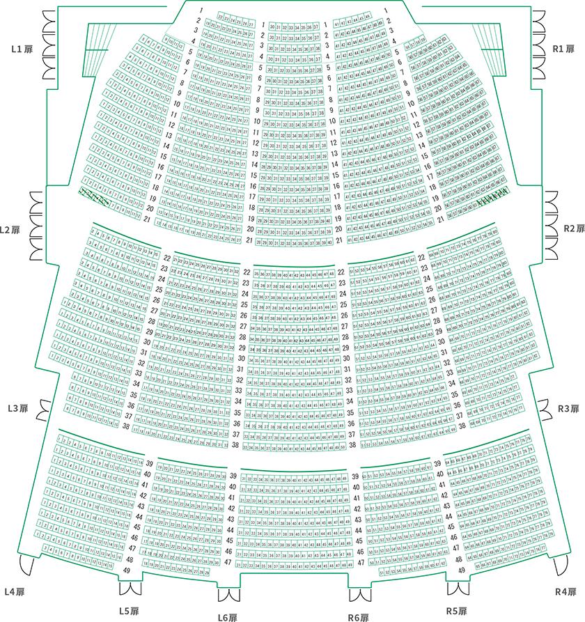 シアター コクーン 座席 表