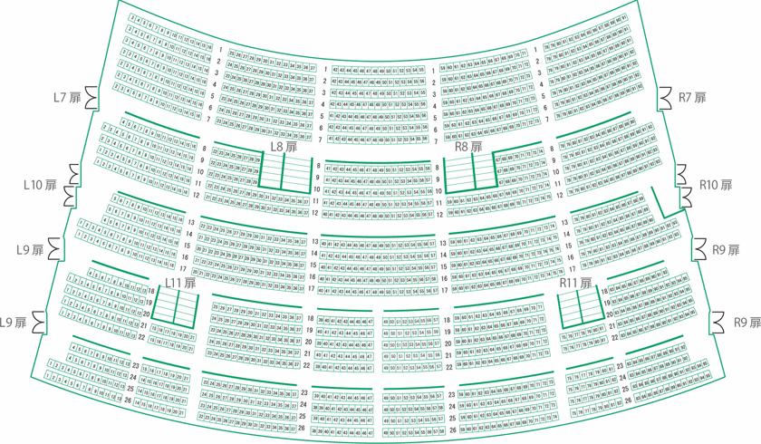 2・3階席の座席表